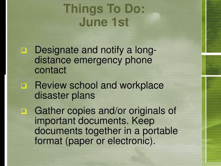 Things To Do: