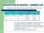 conception du budget exemple 2 b