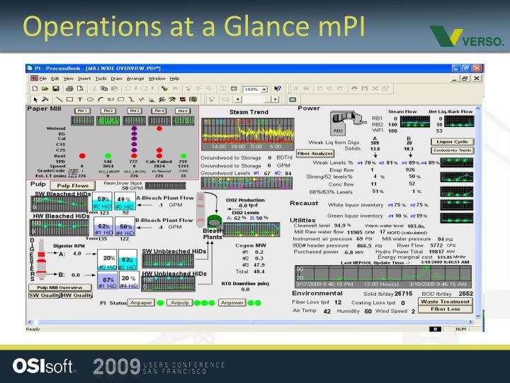 Operations at a Glance mPI
