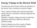 energy change in the electric field