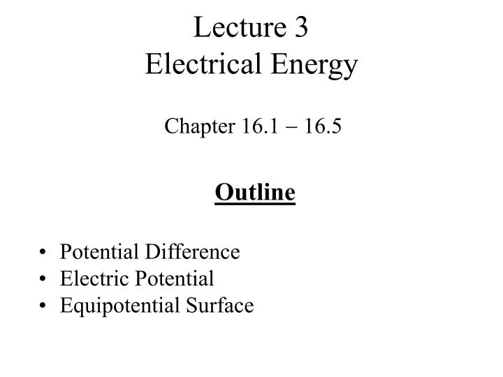 lecture 3 electrical energy n.