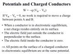 potentials and charged conductors