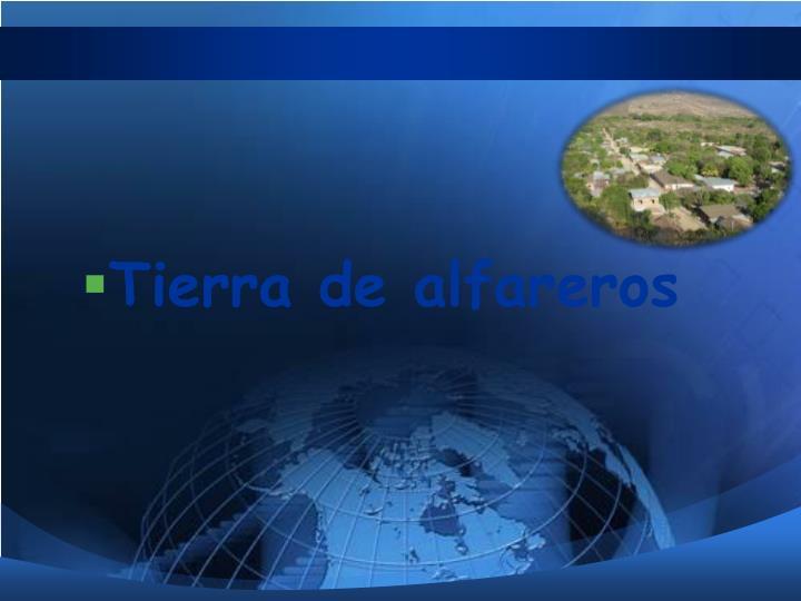 Tierra de alfareros