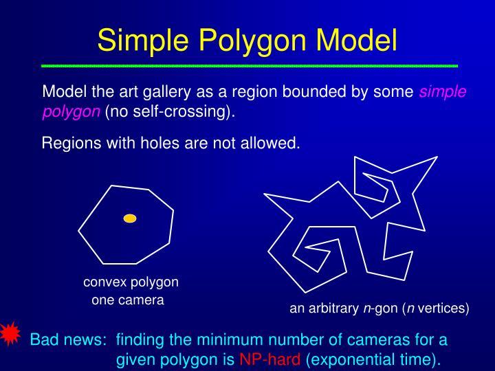 Simple polygon model