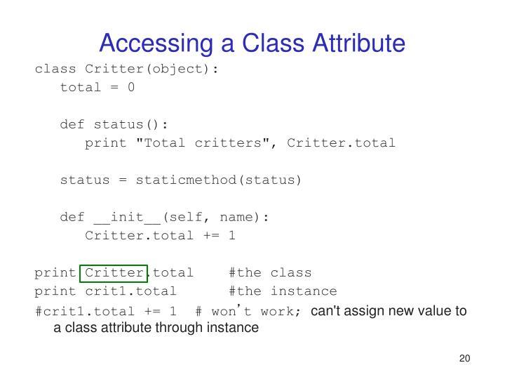 Accessing a Class Attribute