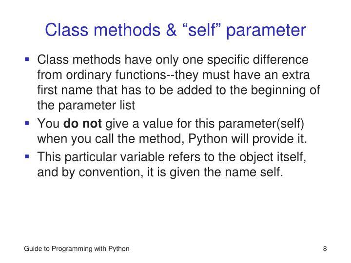 Class methods &