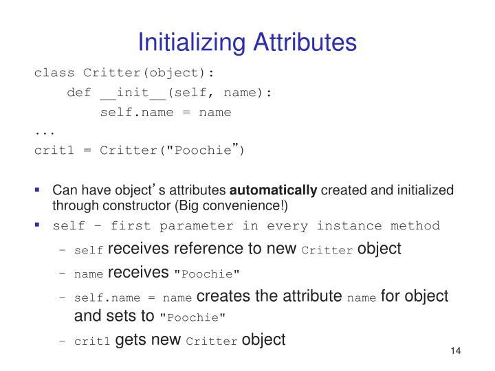 Initializing Attributes