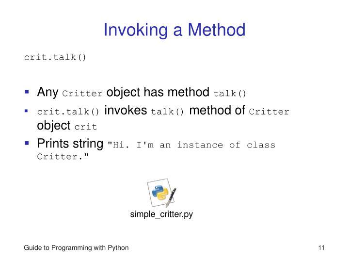 Invoking a Method