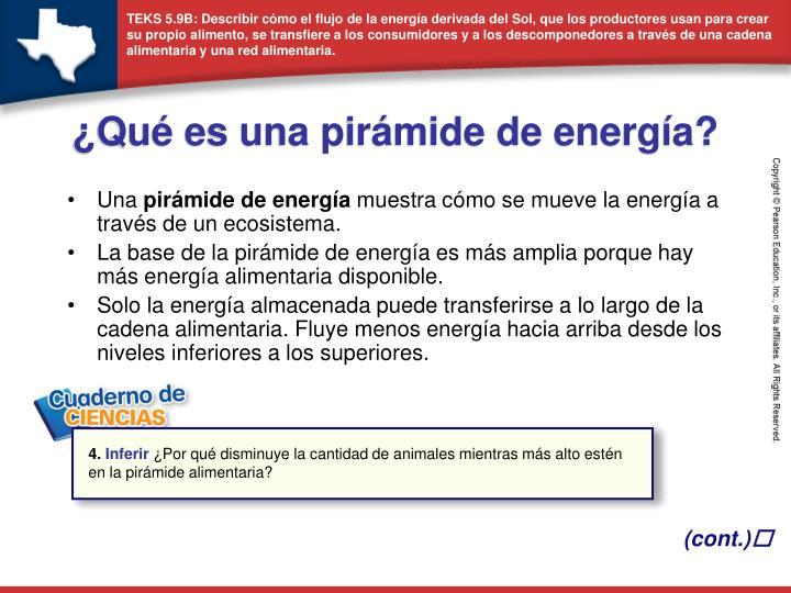 ¿Qué es una pirámide de energía