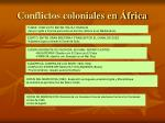 conflictos coloniales en frica