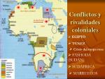 conflictos y rivalidades coloniales