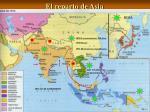 el reparto de asia