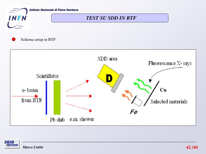 TEST SU SDD IN BTF