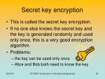 secret key encryption