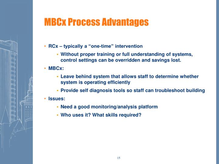 MBCx Process Advantages