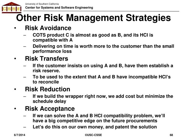 Other Risk Management Strategies