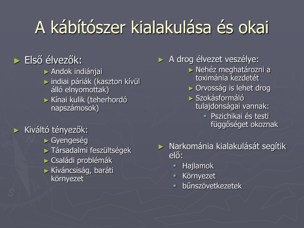 PPT - A kábítószerekről PowerPoint Presentation, free..