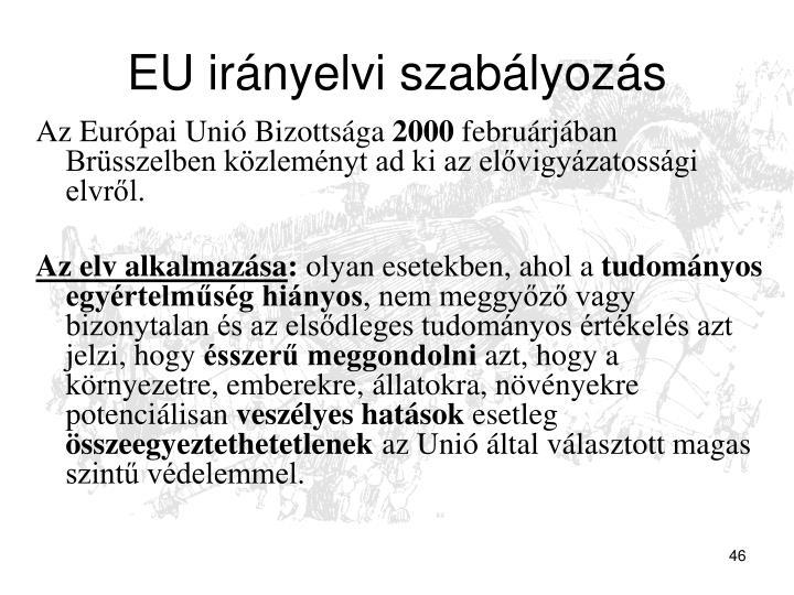 EU irányelvi szabályozás