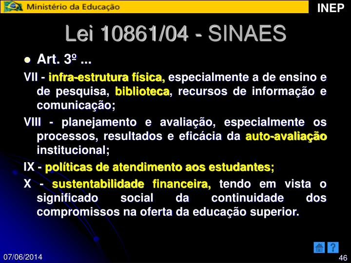 Lei 10861/04 - SINAES