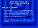 capacidad de los elementos constitutivos del circuito ramal1