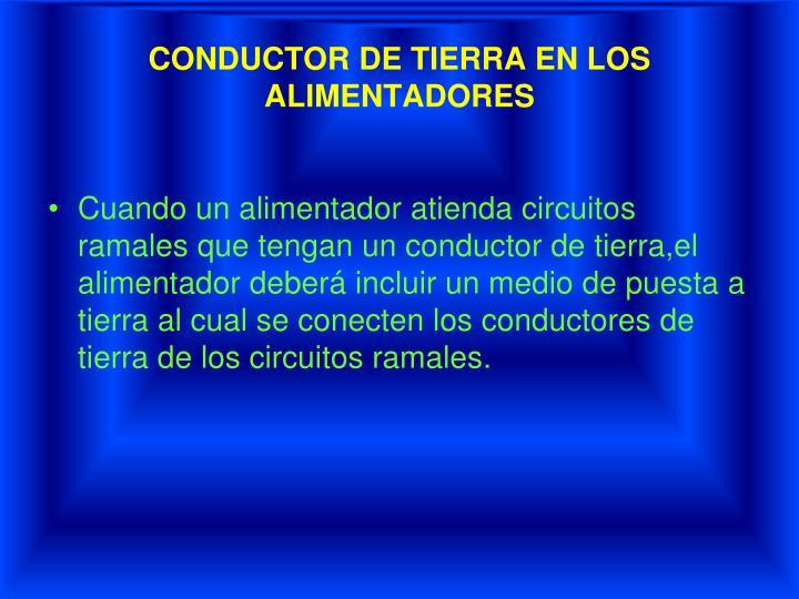 CONDUCTOR DE TIERRA EN LOS
