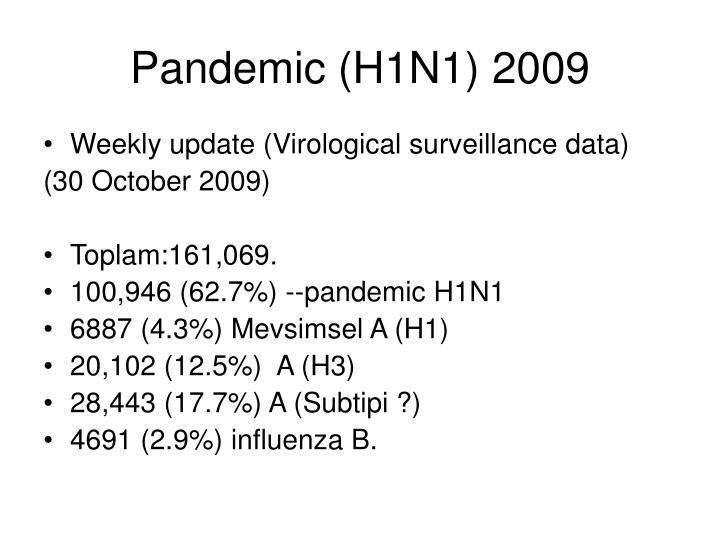 Pandemic (H1N1) 2009