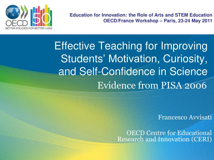 effective teaching for improving students motivation curiosity and self confidence in science n.