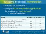 effective teaching interpretation