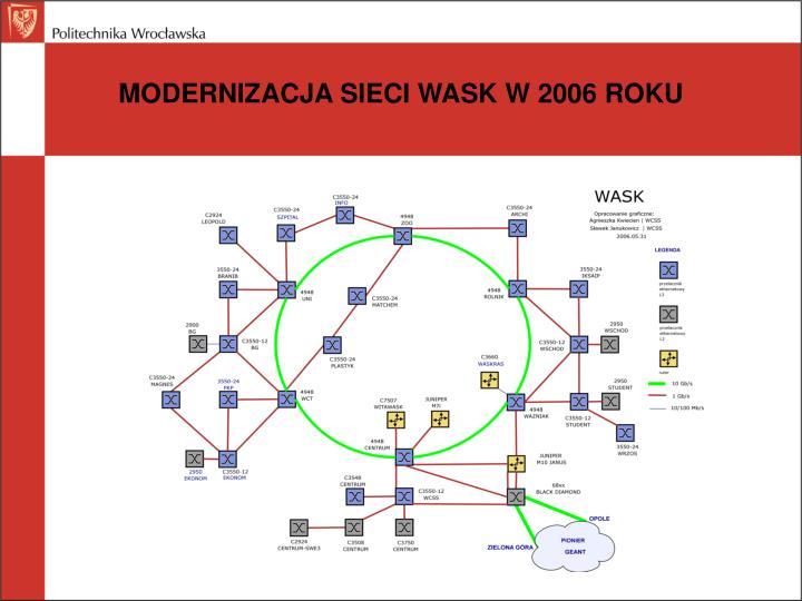 MODERNIZACJA SIECI WASK W 2006 ROKU