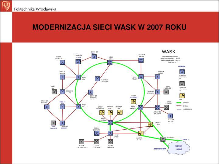 MODERNIZACJA SIECI WASK W 2007 ROKU