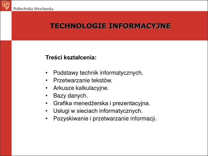 Technologie informacyjne1