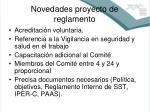 novedades proyecto de reglamento1