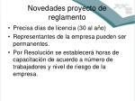 novedades proyecto de reglamento3