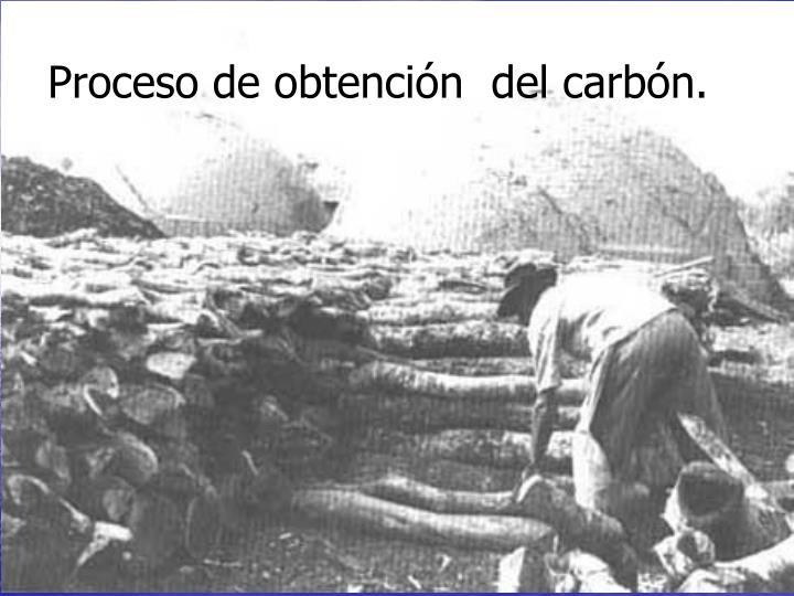 Proceso de obtención  del carbón.