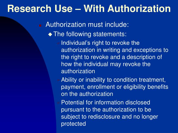 Research Use – With Authorization