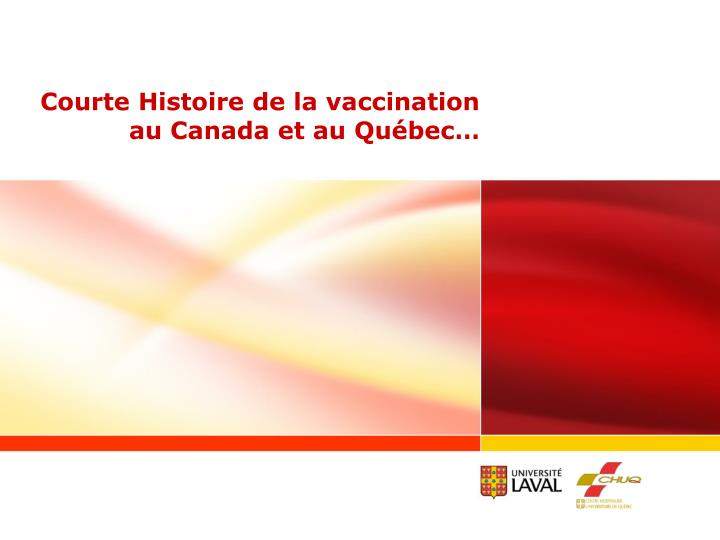 Courte Histoire de la vaccination
