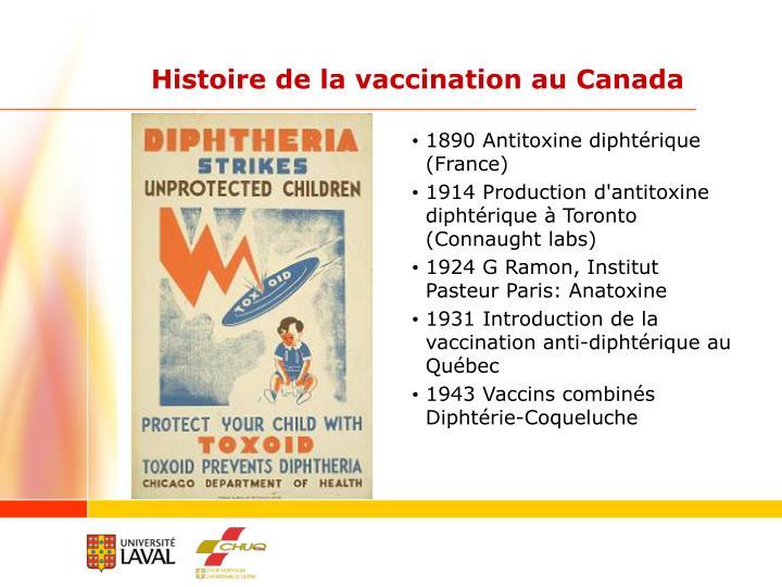Histoire de la vaccination au Canada