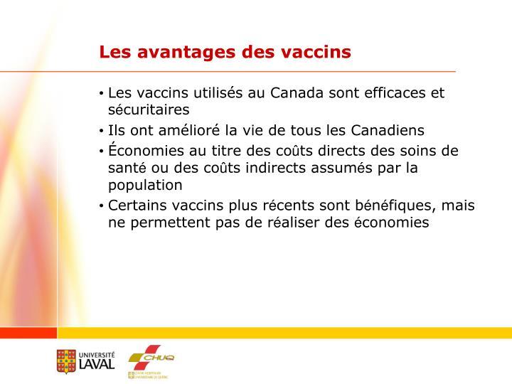 Les avantages des vaccins