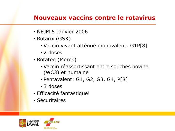 Nouveaux vaccins contre le rotavirus