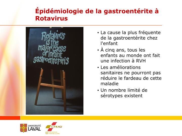 Épidémiologie de la gastroentérite à Rotavirus