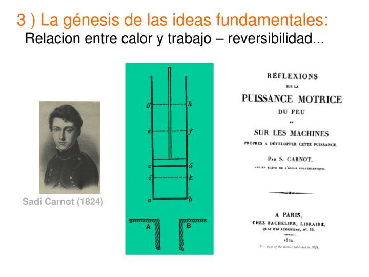 3 ) La génesis de las ideas fundamentales: