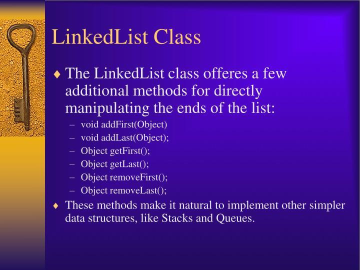 LinkedList Class