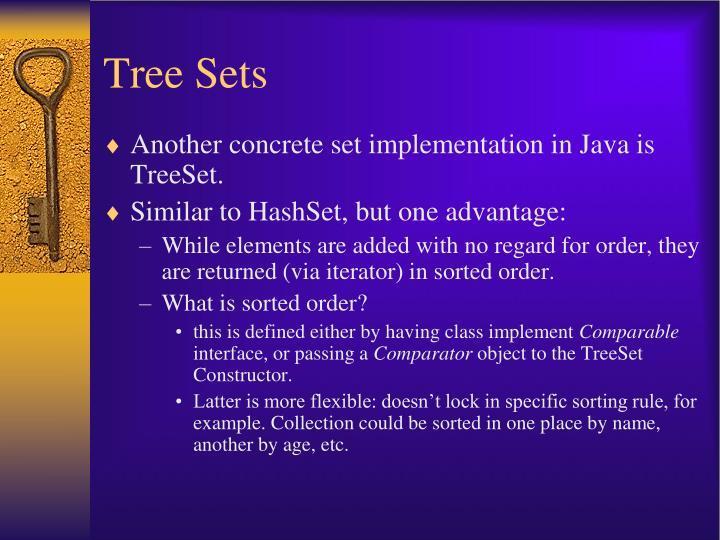 Tree Sets