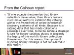from the calhoun report