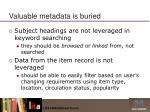valuable metadata is buried