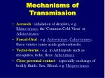 mechanisms of transmission