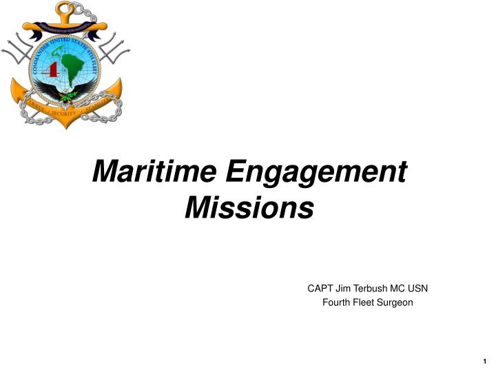 maritime engagement missions n.