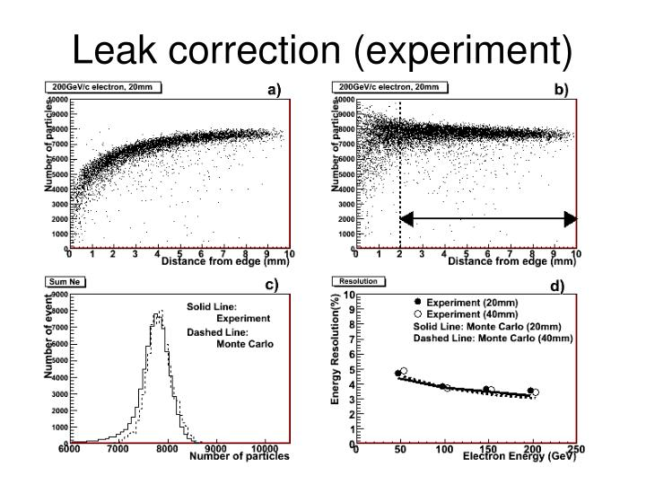 Leak correction (experiment)