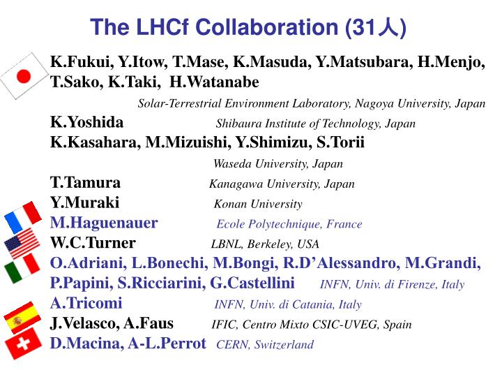 The LHCf Collaboration (31