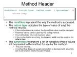 method header